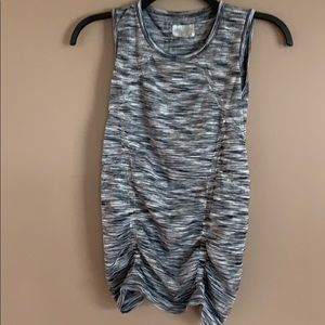 Athleta fast track ruched  muscle sleeveless  tank